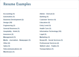 Resume Categories Awesome 9422 Create A Professional Resume In Minutes With ResumeBaking