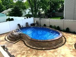 semi inground pool cost. Semi Inground Pool Long Island Pools Cost Installation .