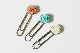Flower Paper Clips Decorative Paper Clips Organize And Decorate Everything