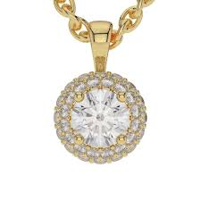 1 50ct round cut diamond 925 sterling silver pendant necklace without chain