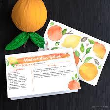 Citrus Season Recipe Card Lia Griffith