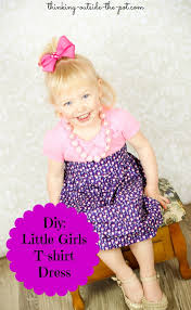 diy little girls t shirt dress