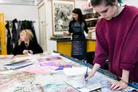 level diploma in art design and media west herts college art and design students hard at work