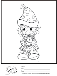 Kids Coloring Page Precious Moments Valentines