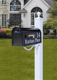 mailbox post. Classic Curbside Mailbox With Vinyl Lettering And Springfield Post