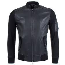 ji leather er in black boss orange eqvvs