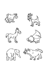 Small Picture Coloring Pictures Of Barn Animals Coloring Pages