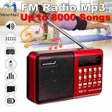 Đài Phát Thanh Mini Cầm Tay K11 FM, Loa Phát Nhạc MP3 TF USB Kỹ Thuật Số  Cầm Tay Có Thể Sạc Lại