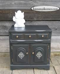 painting designs on furniture. Charcoal Black Cabinet {Distressed Chalk Paint How To} Painting Designs On Furniture I