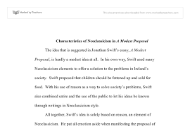 characteristics of neoclassicism in a modest proposal university  document image preview