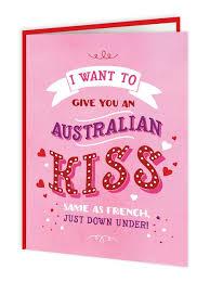 Australian Kiss Valentines Day Card