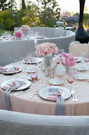 Round Table Settings For Weddings Ribbons Wedding Table Settings Wedding Decorations