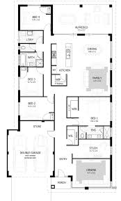 Modern Four Bedroom House Plans Four Bedroom House Plans Home Office