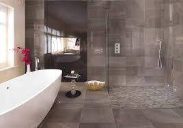 This Modern Bathroom Has A Lightly Textured Stone Look