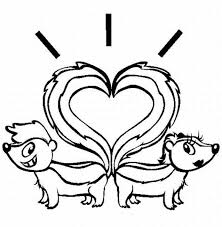 Small Picture Skunk Tail Heart Shaped Coloring Page Color Luna