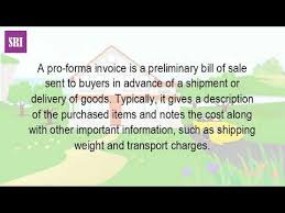 what is a proforma what is the difference between a proforma invoice and a tax invoice