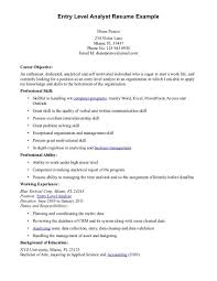 Great Entry Level Resume Examples Resume Profile Examples For