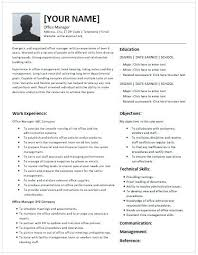 Office Manager Cv Example Hotel Front Office Manager Cv Template Resume Office Manager Cv