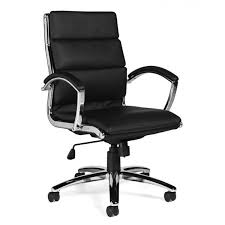 global otg11648b retro executive high back tilter chair in black leather