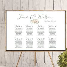 Custom Wedding Seating Chart Printable Wd11