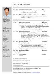 Resume Template Word Document Saneme