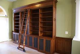 custom home office furniture. After Custom Bookcases Installed With Library Ladder - Las Vegas Home Office Furniture W