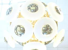 glass orb chandelier modern chandelier white glass orb shade brass discs globe with glass orb chandelier