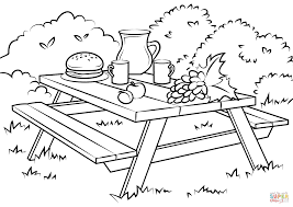 Small Picture Picnic Table coloring page Free Printable Coloring Pages