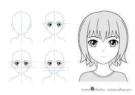 12 Anime Facial Expressions Chart Drawing Tutorial