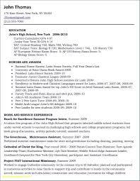College Applicant Resume Template New Elegant High School Resume