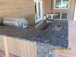Granite For Outdoor Kitchen Granite Outdoor Kitchen Countertop W 3 8 Radius Top Bottom Edge