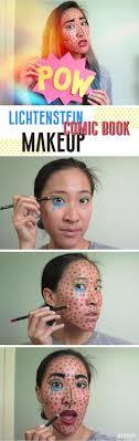 how to do lichtenstein makeup do this clic ic book pop art makeup to