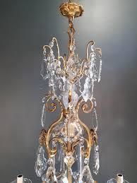 Kristall Antik Glanz Kronleuchter Lampe Kunst Nouveau Decke