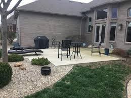 concrete patio decorative gravel jmt