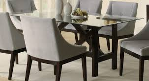 entrancing glass dining table set sets idea