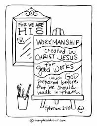 His Workmanship Printable Coloring Page In English And Spanish