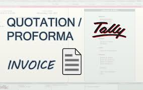 tally erp quotation proforma invoice in tally erp9 quotation proforma invoice in tally
