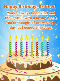 To My Thoughtful Brother Happy Birthday Wishes Card Birthday