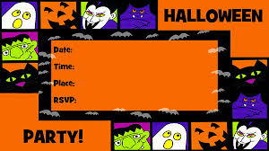 Halloween Invitations Cards Bold Halloween Invitations Free Printable Fill In