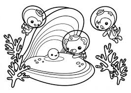 Small Picture The Octonauts Meet Sea Shell Coloring Page Download Print
