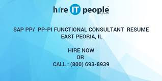 Sap Pp Pp Pi Functional Consultant Resume East Peoria Il Hire It