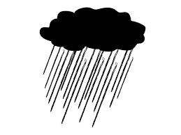 大雨 梅雨 雨雲 ピクトグラム フリー素材