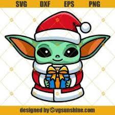 » free svg cut files. Baby Yoda Star Wars Christmas Svg Png Dxf Eps Cut Files Clipart Cricut Baby Yoda Svg Svgsunshine