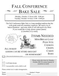 Bake Sale Flyer Pto Today