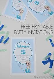 Party Invitation Images Free Free Printable Frozen Birthday Party Invitations