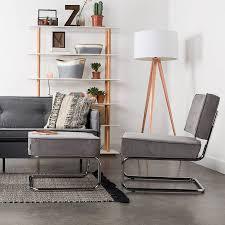 floor lighting for living room. Tripod Copper Floor Lamp In Black Lighting For Living Room