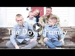 Doyle Family Spotlight: Month of The Military Child - YouTube