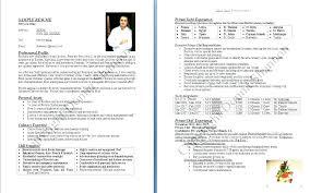Resume For Cooks Impressive Resume Format For Cook Chef Resume Format Chef Resume Format Chef