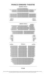 Prince Edward Theater London Seating Chart Prince Edward Theatre London Official Mary Poppins Tickets