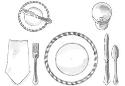 formal setting of a table. basic table setting formal of a o